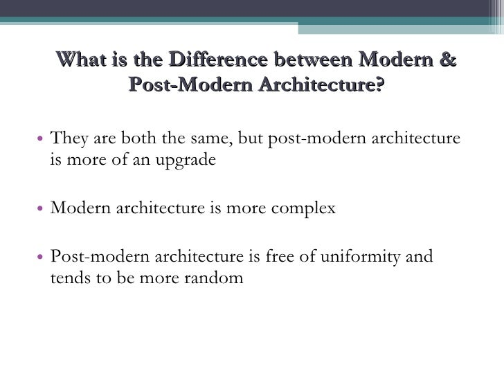 What Is The Difference Between Modern And Contemporary Is