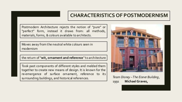 Post modern architecture Qualities of a good architect
