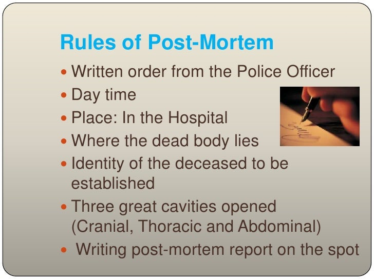 an analysis of ascertain cause manner and time and death Once the cause and manner of death are  in many cases the cause of death is evident at the time of  to return to the scene of death to ascertain more.