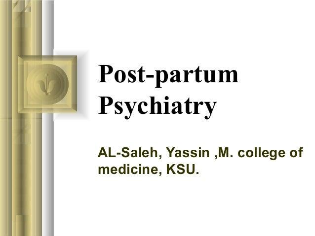 Post partum psychiatry
