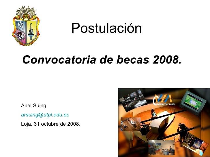 Postulación SENACYT - Ecuador