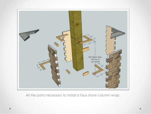 Faux stone column wraps quick installation guide