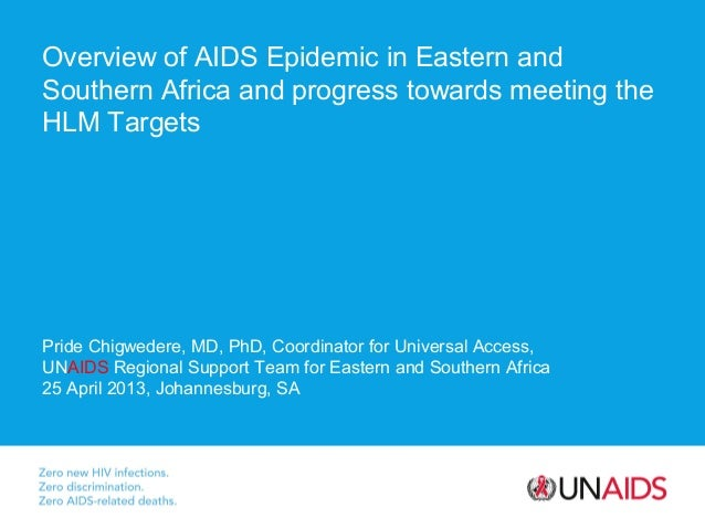 Overview of AIDS Epidemic in Eastern and Southern Africa and progress towards meeting the HLM Targets  Pride Chigwedere, M...