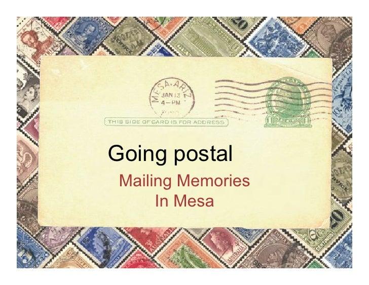 Mesa Postal History