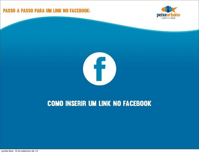 Postar link no facebook
