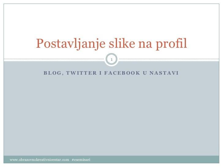 Postavljanje slike na profil