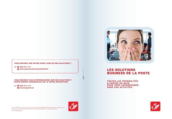 Post Brochure Les Solutions Business De La Poste Fr