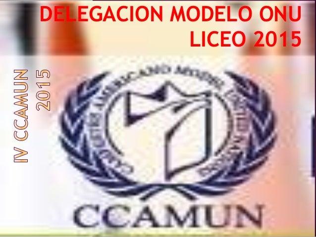 DELEGACION MODELO ONU LICEO 2015