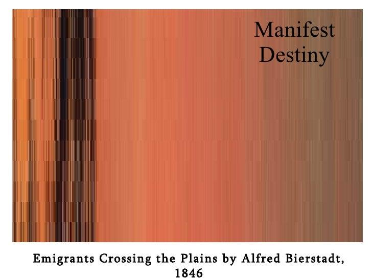 Manifest Destiny Emigrants Crossing the Plains by Alfred Bierstadt, 1846