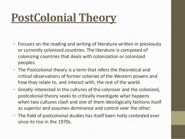 postcolonial analysis essay Representation in postcolonial analysis uploaded by noel b salazar representation and then use the people in her provocative essay.