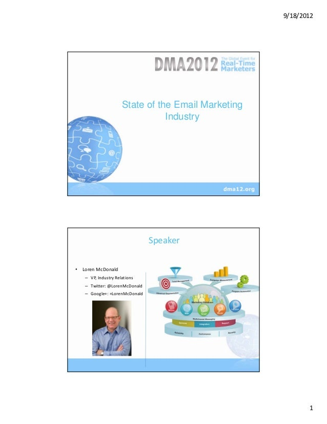 9/18/2012                     State of the Email Marketing                       Section Title                            ...