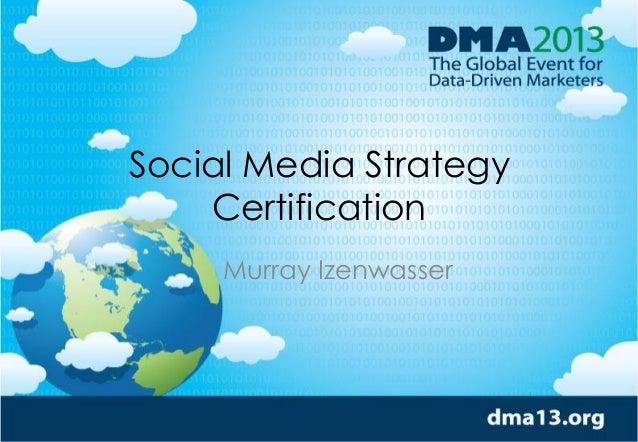 Social Media Strategy Certification Murray Izenwasser