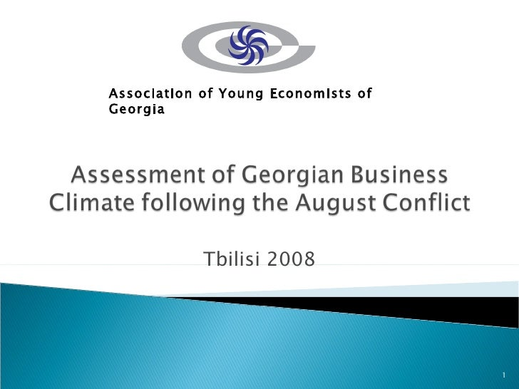 Georgian Young Economists: Post-Conflict Business Assessment