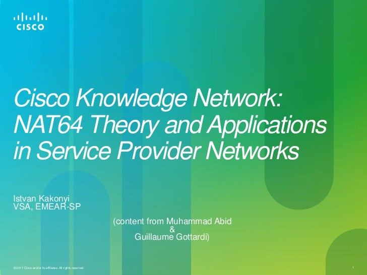NAT64 Theory and Applications in Service Provider Networks