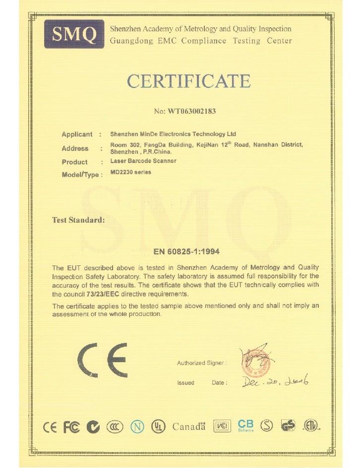 Postek Certificate