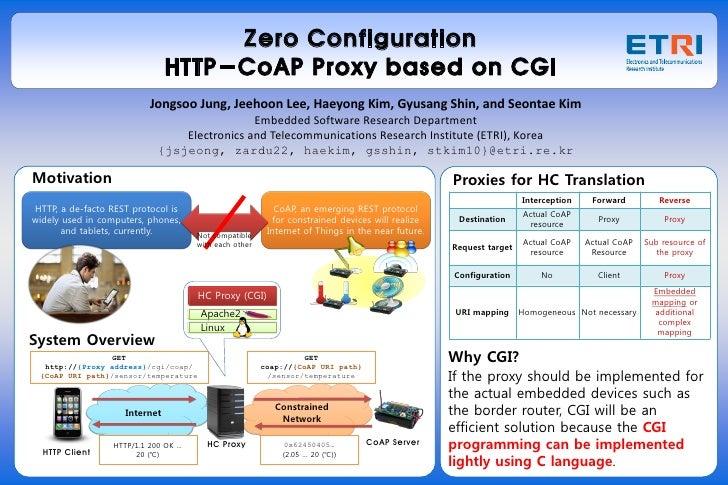 Zero Configuration HTTP-CoAP Proxy Implementation based on CGI