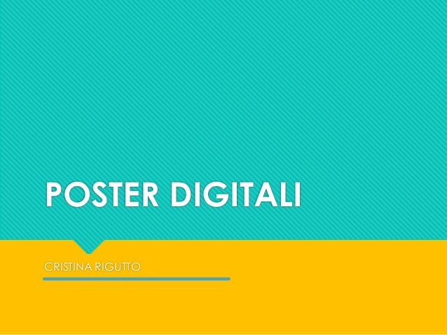 Poster Scientifici Digitali