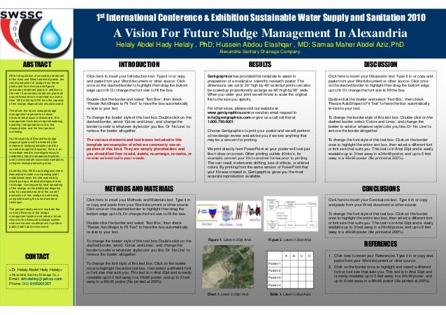 1st International Conference & Exhibition Sustainable Water Supply and Sanitation 2010  A Vision For Future Sludge Managem...