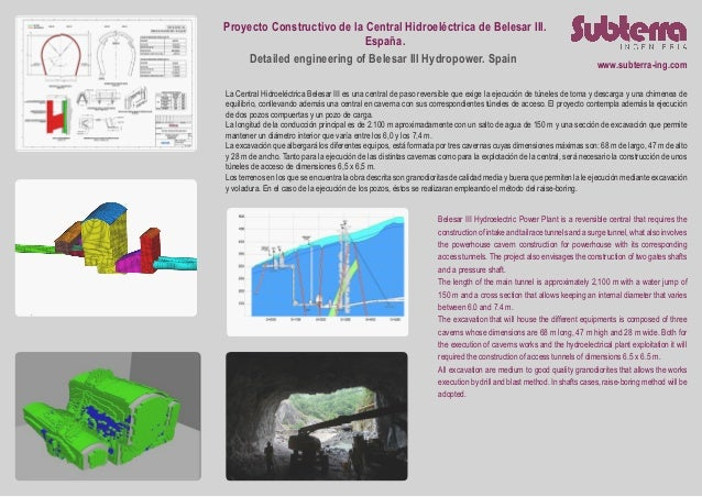 Proyecto Constructivo de la Central Hidroeléctrica de Belesar III. España. Detailed engineering of Belesar III Hydropower....