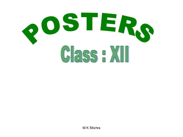 Poster designing---class-xii-cbse