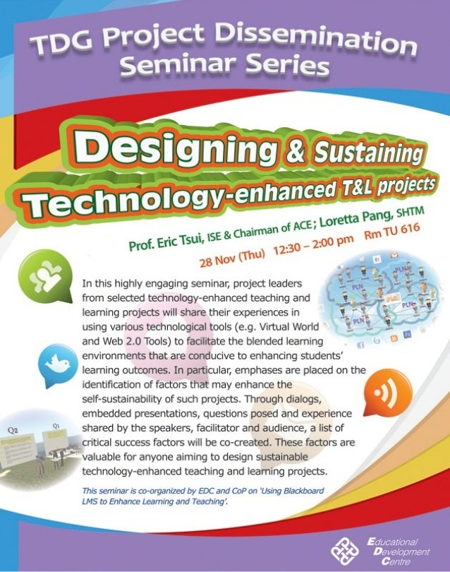 Seminar on Designing & Sustaining Technology-enhanced Teaching & Learning projects
