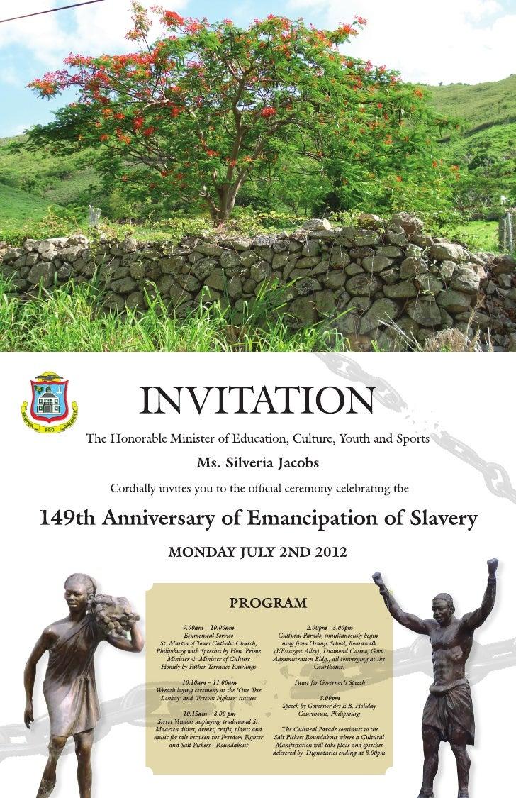 Emancipation Celebration Schedule of Events