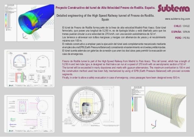 Proyecto Constructivo del tunel de Alta Velocidad Fresno de Rodilla. España. Detailed engineering of the High Speed Railwa...