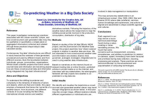 Co-Predicting Weather in a Big Data Society