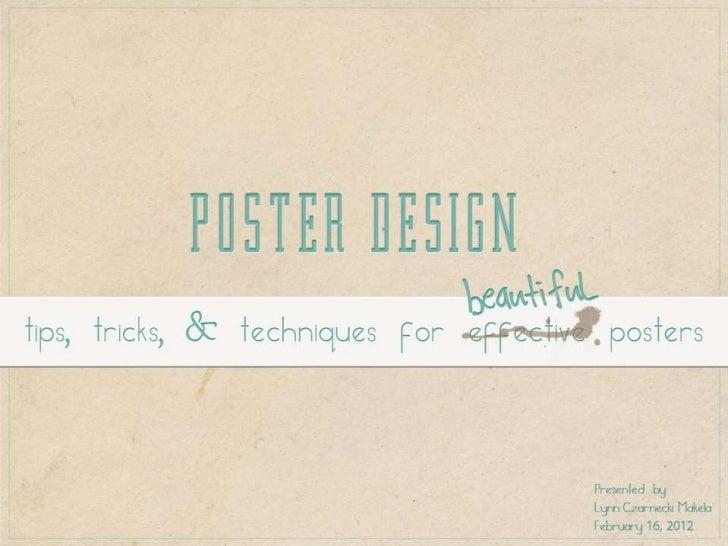 Poster Design Presentation