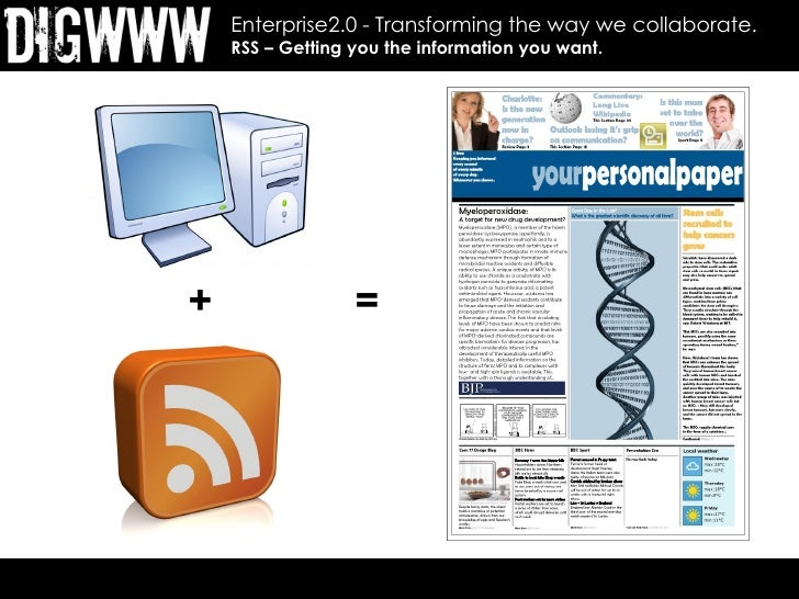 Enterprise2.0 - Transforming the way we collaborate.     RSS – Getting you the information you want.     +                ...