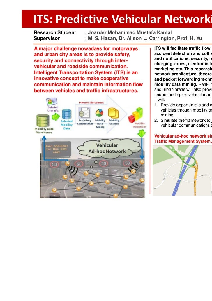 Poster :: ITS: Predictive Vehicular Networking (2)