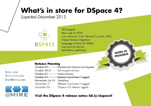 What's in Store for DSpace 4?