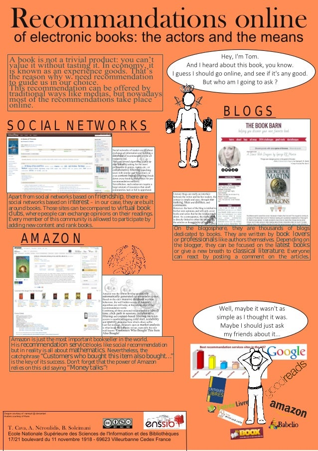 T. Cava, A. Néroulidis, B. Soleimani Recommandations online BLOGS SOCIAL NETWORKS AMAZON Apart from social networks based ...