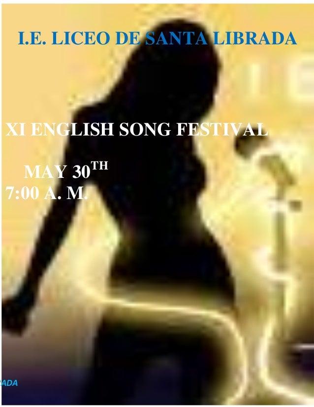 ENGLISH SONG FESTIVAL 2013