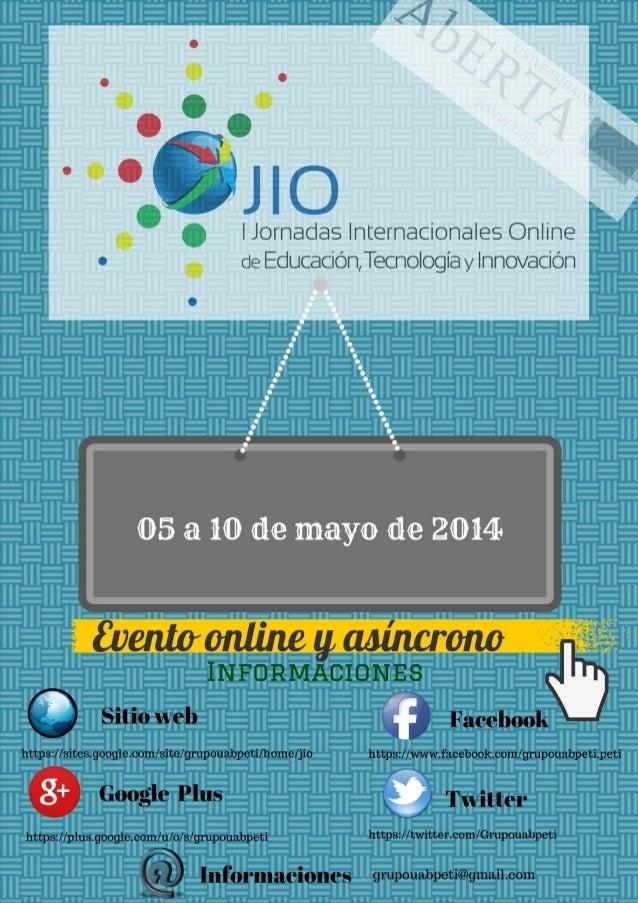 o  'Oro o  I  Jornadas lnternacionales Online  oe  Educacion TecnologÍa y nnovacion I