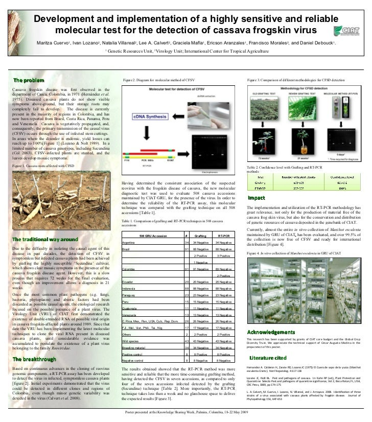 Development and implementation of a highly sensitive and reliable molecular test for the detection of cassava frogskin vir...