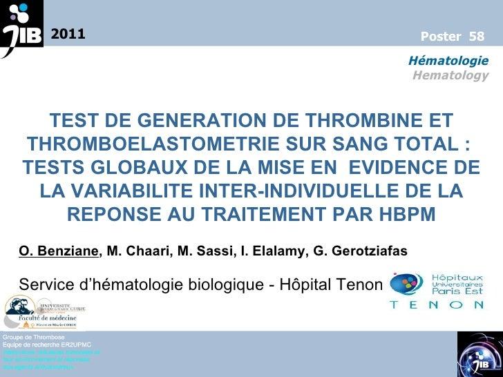 Poster 58 hematologie