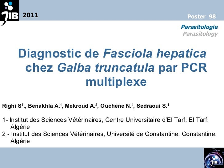 Poster 98 parasitologie