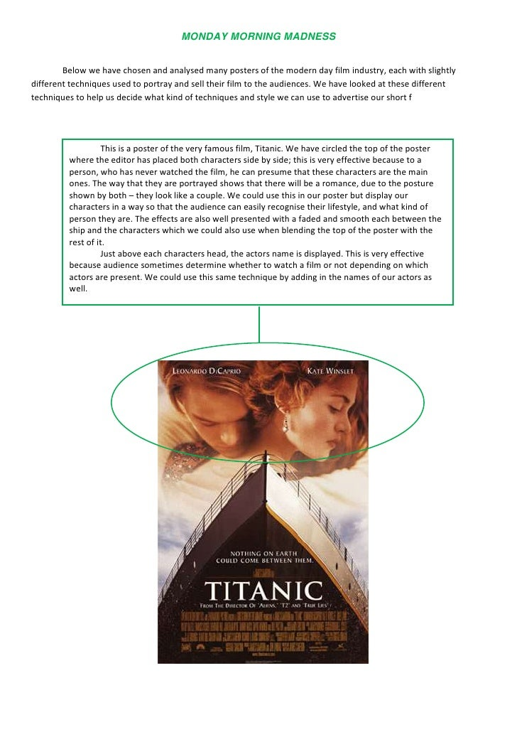 18573754324350Below we have chosen and analysed many posters of the modern day film industry, each with slightly different...