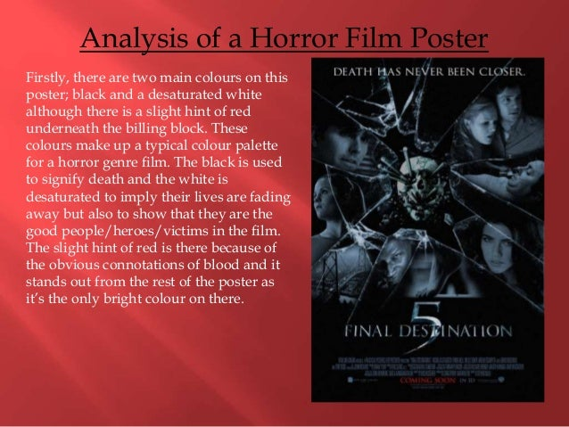 horror film analysis essay Horror film genre analysis essays posted on november 12, 2017 by essay on racism in education grants dissertation outline template video.
