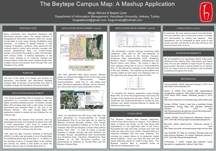 The Beytepe Campus Map: A Mashup Application - Scientific poster for BOBCATSSS 2010