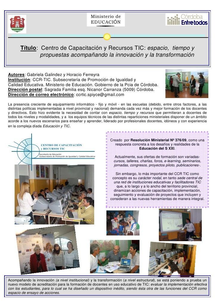 Ministerio de                                                                         EDUCACIÓN            Título: Centro ...