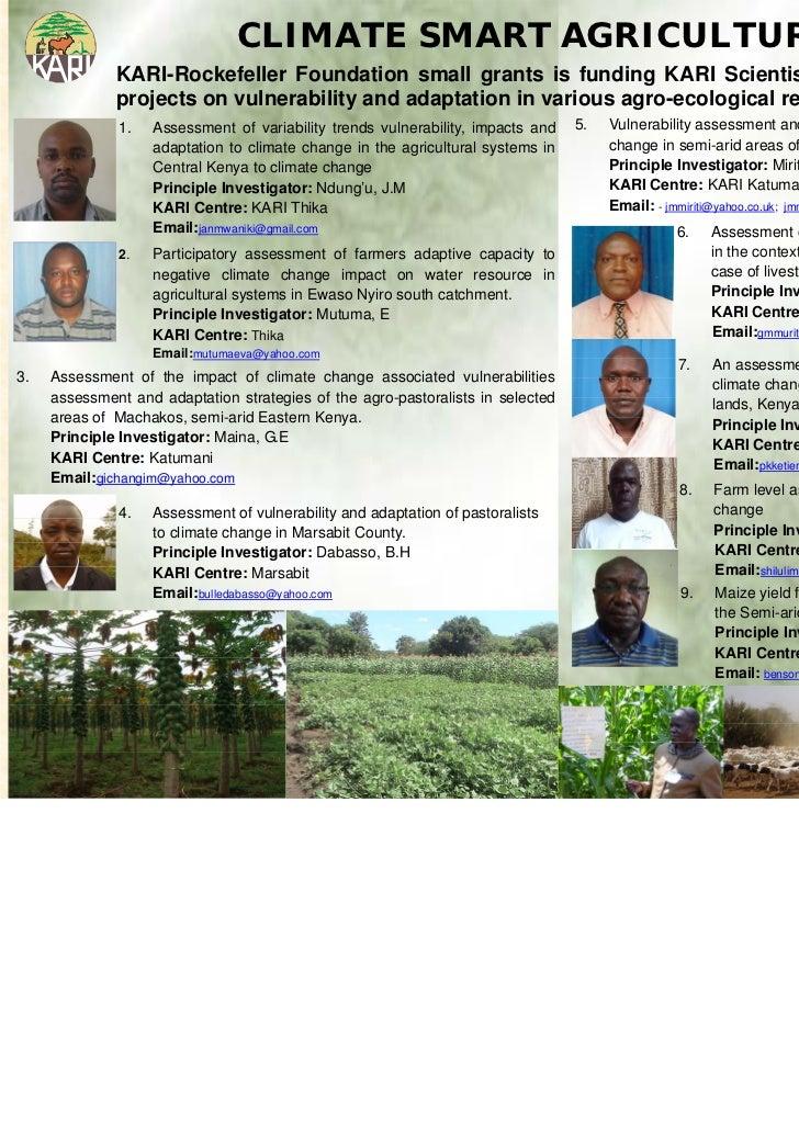 Poster climate smart agriculture   kari nov 2011