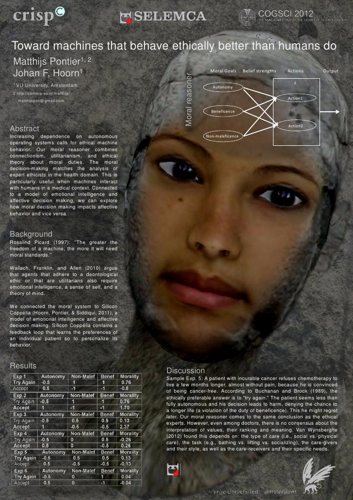 Toward machines that behave ethically better than humans do - Poster