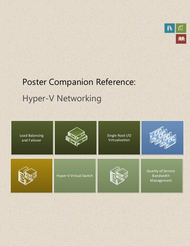 Poster Companion Reference:Hyper-V NetworkingLoad Balancingand FailoverHyper-V Virtual SwitchSingle Root I/OVirtualization...