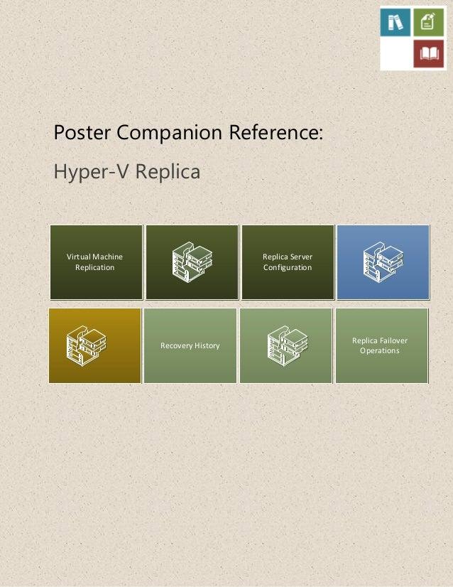 Poster Companion Reference:Hyper-V ReplicaVirtual MachineReplicationRecovery HistoryReplica ServerConfigurationReplica Fai...