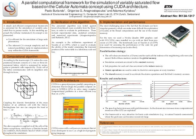 A parallel computational framework for the simulation of variably saturated flow based on the Cellular Automata concept usi...
