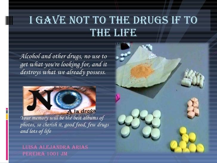 Poster drugs addiction