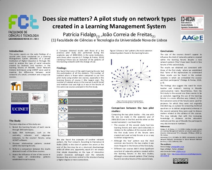 Does size matters? A pilot study on network types                                                                created i...