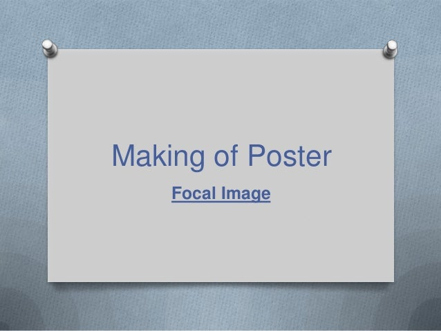 Making of Poster Focal Image
